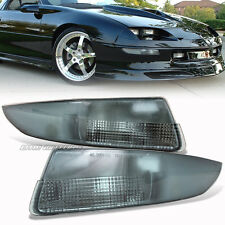 For 1993-2002 Chevy Camaro Smoke Lens Front Bumper Signal Corner light Lamps NEW