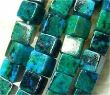 New 6mm Azurite Chrysocolla Gems Square Loose Bead 15''