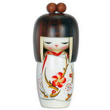 "Japanese Creative Kokeshi Wooden Doll 6.25""H YUME Dream""春夢"" Girl/Made in Japan"