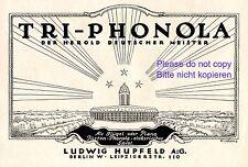 Klavier Tri Phonola Hupfeld Reklame 1923 von Gipkens Werbung +