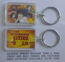 MYSTERIOUS CITIES OF GOLD  80s 90s cartoon series key ring GIFT NEW