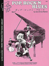 Pop, Rock N Blues Learn to Play Piano Beginner Music Book 1 Level 2