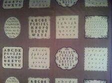 Moda French General La Petite Ecole Vintage Alphabet Panel 13560-26 Fabric