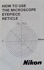Nikon Microscope Reticle Calibration Manual on CD