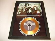 BLACK SABBATH    SIGNED FRAMED GOLD CD  DISC   4700