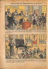 Caricature Tribunal Laïque Education Eglise Catholique Libre 1920 ILLUSTRATION