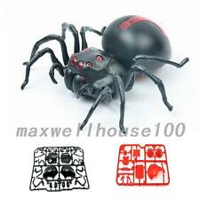 Black DIY Assembly Salt Water Energy Educational Kids Toy Power Moving Spider