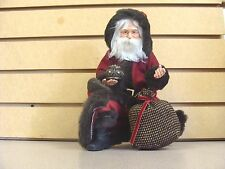 PDL   Santa Gift Bag Kneeling Christmas Figure Red Outfit FREE SHIPPING!!