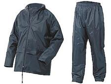 Lightweight Waterproof Rain Suit Jacket & Trousers Navy Nylon size Large