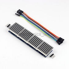 MAX7219 Dot Matrix Module Red LED 4 in1 Display /w 5Pin 20cm cable for Arduino