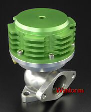 38MM Wastegate 17 PSI Turbo Stainless Steel Dump Valve Anodized Green
