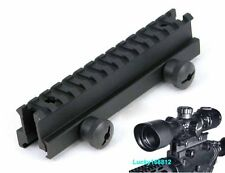 "1"" inch Large 14 Slot See Through Riser Scope Rail Mount 20mm Picatinny Weaver"