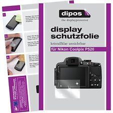 6x dipos Nikon Coolpix P520 Schutzfolie klar Displayschutzfolie Folie unsichtbar
