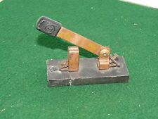 T Vintage Brown Copper Knife Blade Switch-  Electrical Fixture- U.S.A