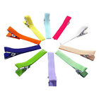 Colorful 1 3/4 inch Ribbon Covered Alligator Hair Clips DIY Hairpin 50/100/200PC