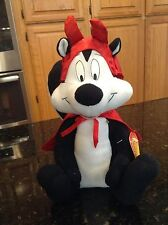Pepe Le Pew in Devil Outfit Looney Tunes Plush NWT Russell Stover w/o Candy