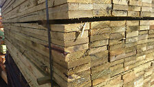 "4""inch x 1""inch Timber Fence Panel Boards Tanalised Treated Pickets 8'Ft-2.4m"