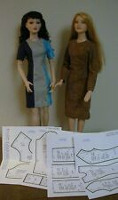 "Princess Seamed Dress Pattern For Tonner's 22"" American Model Dolls"