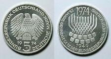 ALEMANIA REPÚBLICA FEDERAL.  5 MARK 1974 F.  25 ANIV. LEY CONSTITUCIONAL.   SC