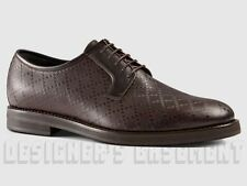 GUCCI mens 11* Brown leather DIAMANTE Oxford CARNEY Derby shoes NIB Authent $750