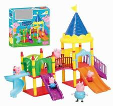 Peppa Pig Amusement Park Playset Set Christmas Kids Gift Doll With 4 Figures Toy