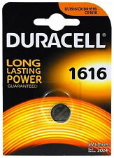 Duracell 1616 3V Lithium Coin Cell Batteries CR1616/DL1616 Battery - New
