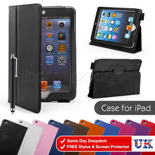 PU Leather Case Cover For For Apple iPad 2/3/4 mini Air Screen Protector Stylus
