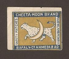 Cinderella. Old Cheeta-Moon Brand safety match label