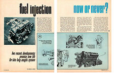 1964 FUEL INJECTION ENGINES ~ ORIGINAL 5-PAGE ARTICLE