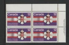 CANADA 1977 Plate Block Stamp  #736 12¢ ORDER OF CANADA MEDAL MNH