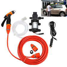 Portable 80W 130PSI High Pressure Car Electric Washer Wash Pump 12V Clean Set