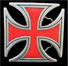 KNIGHTS TEMPLAR CRUSADE CRUZADE RED CROSS BELT BUCKLE BOUCLE DE CEINTURE
