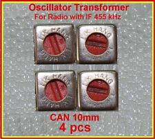 IF Transformer Oscillator Coil Red 455KHz  10mm LOT 4 PCS Beat Frequency BFO