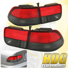 Smoke Red Tail Light Brake Lamp Trunk Rear Replacement For 96-00 Civic Coupe