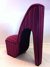 Unique Stiletto Chair - Your choice of fabric - Stunning design - Solid hardwood