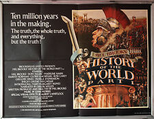 Cinema Poster: MEL BROOKS' HISTORY OF THE WORLD PART I 1981 (Quad) Madeline Kahn
