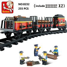 Sluban B0232 Train Freight Railway Truck Minifigure Enlighten Building Block Toy