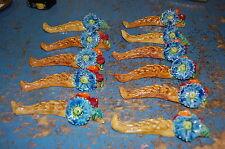 beau lot de 11 porte couteaux ceramique verni  ancien   occasion