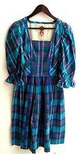 Damen Trachten Kleid blau kariert Gr. 36 v. Salzburger Dirndl