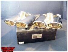 Mercedes W220 Chrome Exhaust Double Tail Pipes Schatz Left & Right Set of 2 Tips