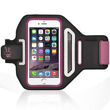 "iPhone 6/6S 4.7"" Hot Pink Lycra Armband Running Reflective CreditCard Holder"