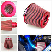 "NEW 3"" 75mm High Flow Tapered Cone Cold Air Intake Filter Cleaner Car For Fabia"