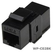 RJ45 Female to Female UTP CAT 6 Keystone Coupler, Black