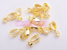 Wholesale Silver/Gold Plated & Platinum Pinch Clip Connectors Bails For Jewelry
