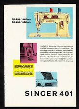 3w1725/ Alte Reklame von 1960 - Nähmaschine SINGER 401