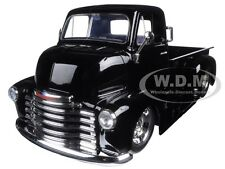 1952 CHEVROLET COE PICKUP TRUCK BLACK W/ CHROME WHEELS 1/24 MODEL BY JADA 97462