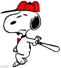 "5.5"" SNOOPY BASEBALL BAT  SPORTS   FABRIC APPLIQUE IRON ON CHARACTER"