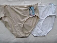 NWT $19 2 TWO Jockey Hipster cotton spandex white beige panties briefs L 7 sale