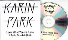 KARIN PARK Look What You've Done 2014 UK 1-track promo test CD