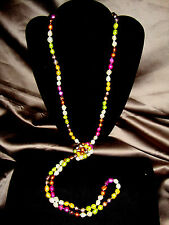 "Jewel Tone MultiColor 60"" Opera Length 10-12mm Blister Baroque Pearl Necklace"